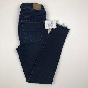 AEO American Eagle Raw Hem Skinny Jeans